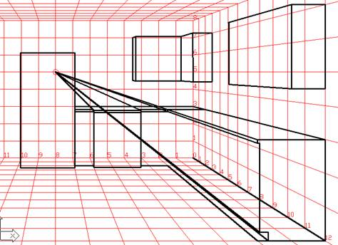 kitchen 1 point perspective. kitchen 1 point perspective